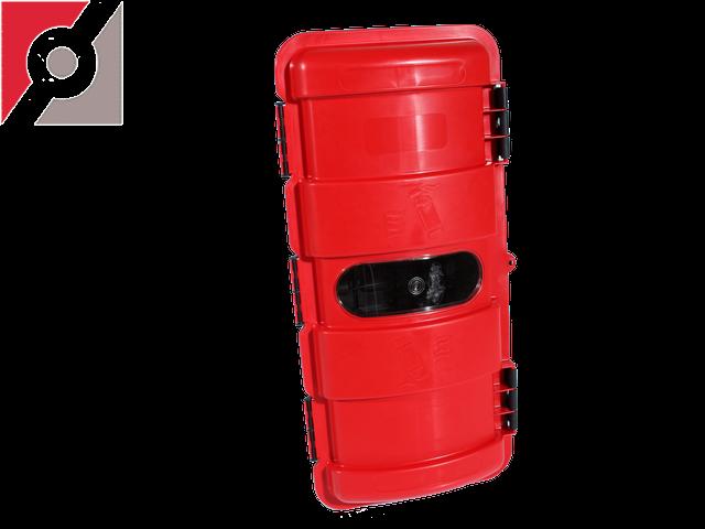 Feuerlöscherkasten Kunststoff  Eingespr.PP 2,5kg rot mit TÜV