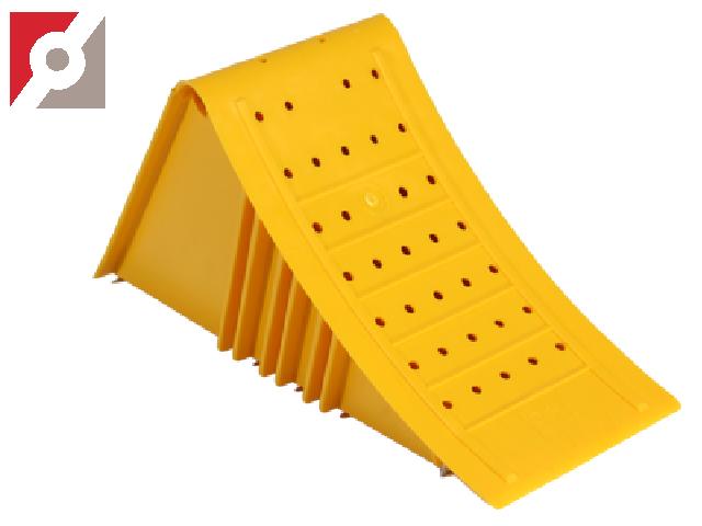 Unterlegkeil nach NG 46 inkl.  Stahlschienen gelb,  PP Daplen