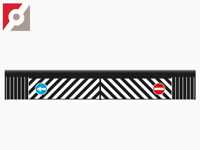 Heckschürze / Schmutzfänger / Spritzschutz mit Zebramuster