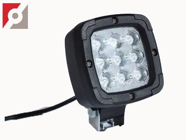 LED-Rückstrahler, 9LED, eckig mit E-Zulassung