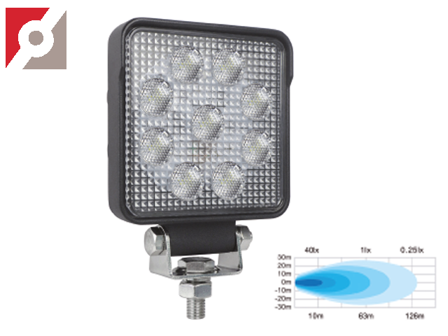 LED Rückfahrscheinwerfer, 9 OSRAM LEDs, Flood 60°