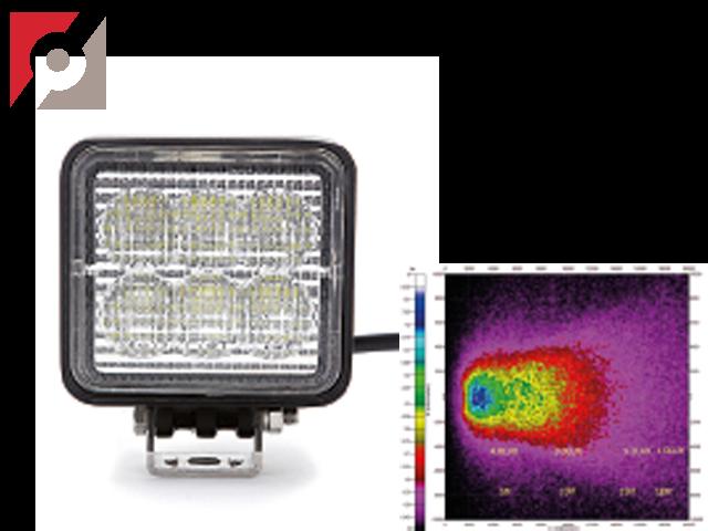 LED Arbeitslampe, eckig, 6 LEDs, Flood 18W, 12-24V
