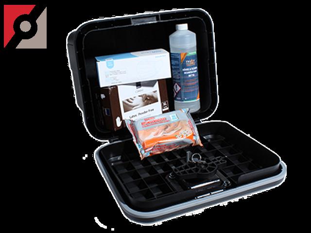 Sicherheitspaket mit Hygiene + Desinfektionsmittel inkl. Box