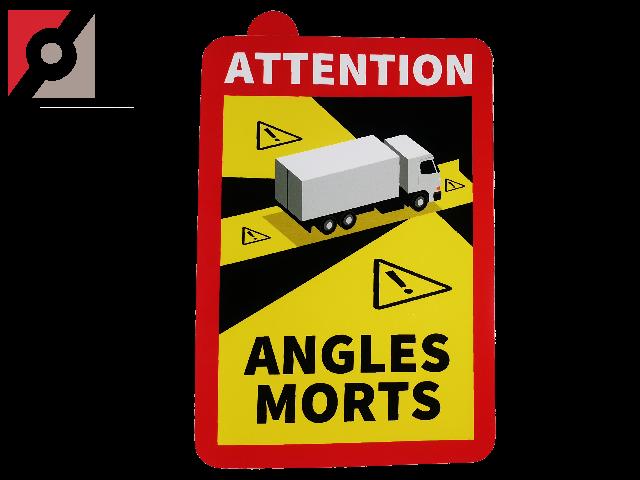 "Aufkleber ""ANGLES MORTS"" (TOTER WINKEL) für LKW (Frankreich)"
