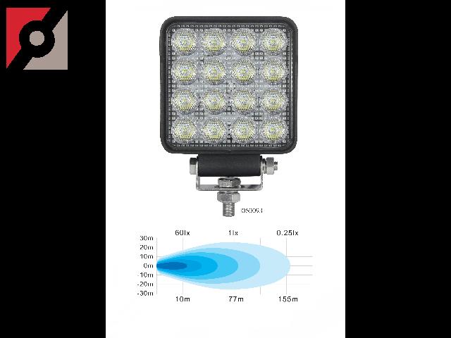 LED-Rückfahrscheinwerfer (ECE-R23) LED-Umfeldleuchte (ECE-R10) Aluminium-Druckgussgehäuse