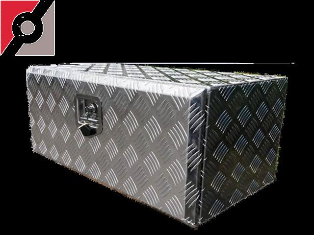 Werkzeugkasten Aluminium  Riffelblech. B400xH350xT250