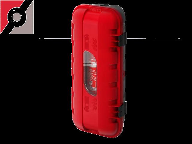 Feuerlöscherkasten STRIKE Kunststoff  Eingespr. PP, rot